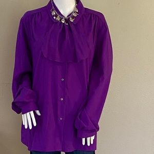 Tops - 2/$20 Purple Vintage Inspired Button Down Blouse